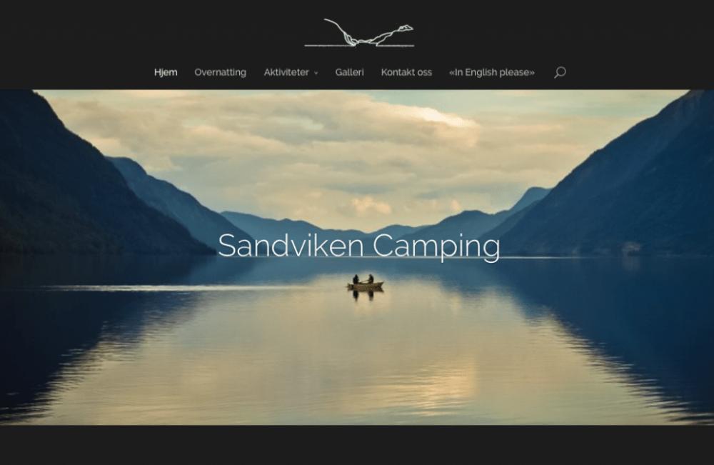 Sandviken Camping lanserer ny nettside