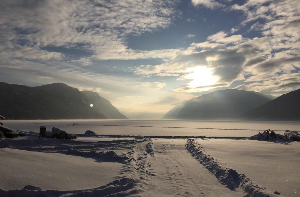 Vinterdag på Sandviken Camping